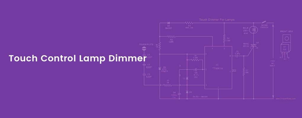 Lamp dimmer circuit