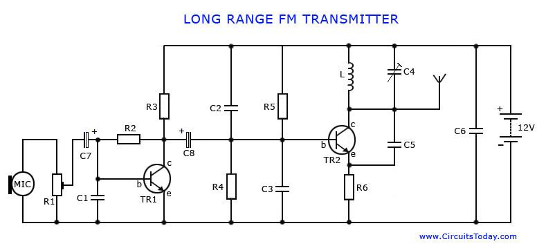 long range fm transmitter rh circuitstoday com