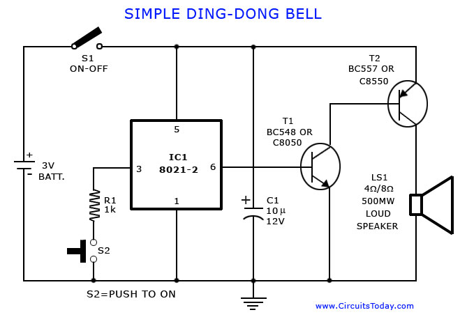 Remarkable Tone Generator Circuit Simple Calling Bell Circuit Wiring Digital Resources Minagakbiperorg