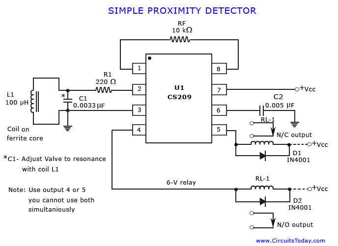 simple proximity detector proximity detector or sensor Single Pole Switch Wiring Diagram at nearapp.co