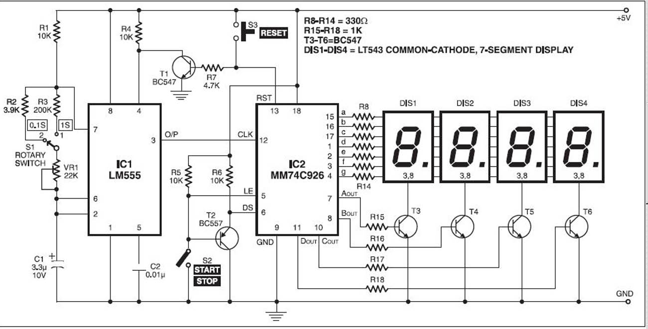 Digital Clock Circuit Diagram Using 555 Time Digital Clock Circuit