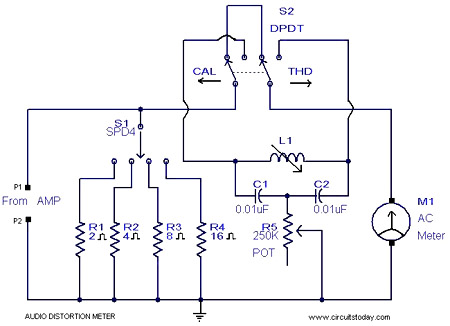 inductance meter circuit. Audio Distortion Meter