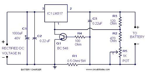 lead acid battery charger circuit rh circuitstoday com Club Car Battery Charger Diagram 48 Volt Battery Charger Circuit
