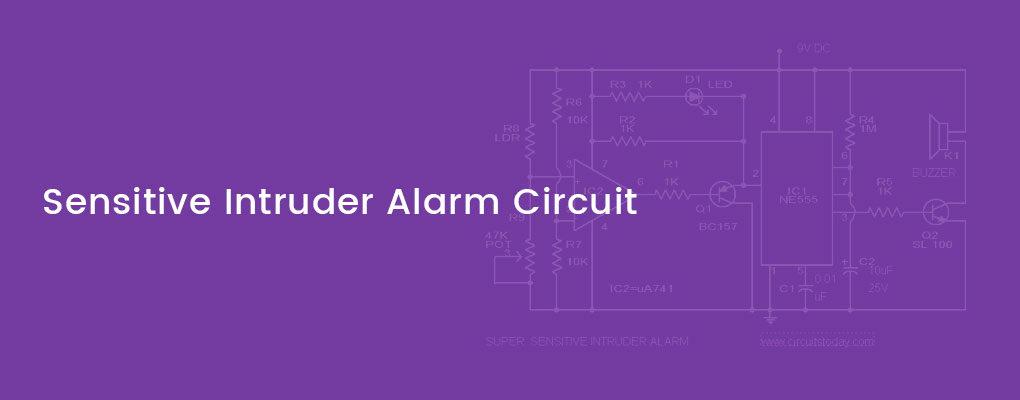 Light sensing intruder alarm