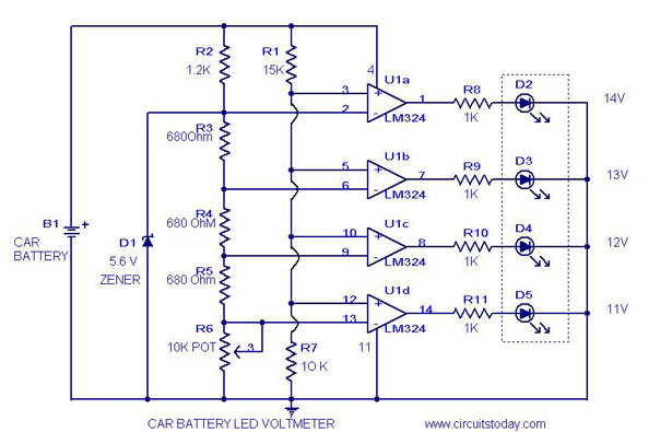 Voltmeter Circuit Diagram