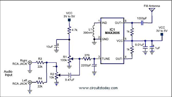 Single Chip FM Transmitter