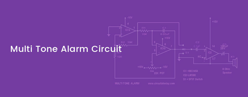 simple multi tone alarm circuit