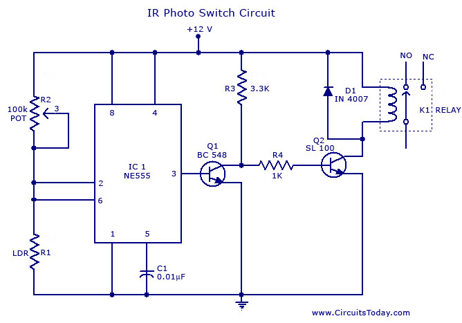 Photo switch circuit Infra red