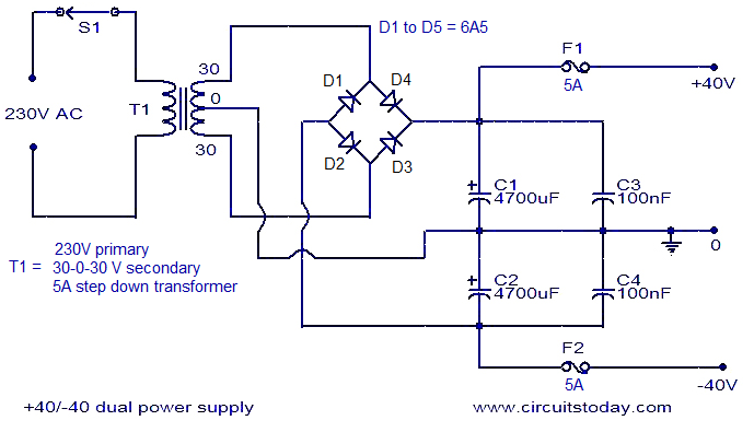 Amplifiers Circuit Diagram | 150 Watt Amplifier Circuit