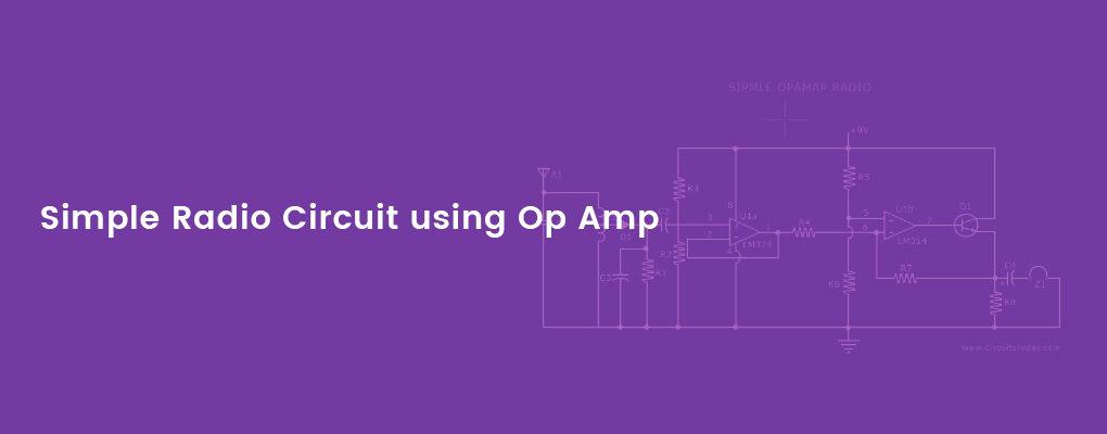 Radio circuit using opamp
