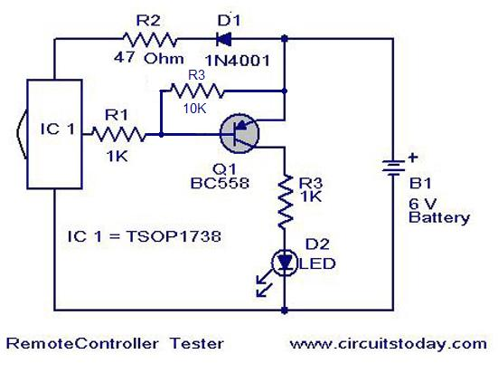Remote Control Tester Circuit