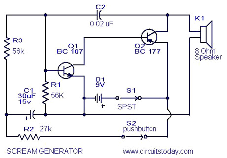 Tone/Sound Frequency Generator Circuit