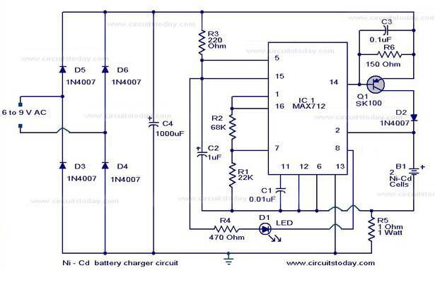 The Forever Rechargeable VARIABLE Super Capacitor in addition Circuito Carregador Universal De Bateria De Baixo Custo moreover Car Battery Charger Circuit Schematic Diagram additionally 18650 Battery Charger Schematic also Nicad Battery Charger By Ic Lm317t. on nimh battery charger circuit diagram