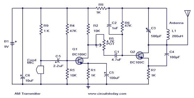 Wiring Pre Circuit Diagram  Am Transmitter Circuit