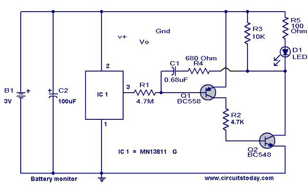 Electronic toss circuit - Electronic Circuits and Diagram ... | electronics circuit projects