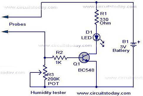 humidity tester circuit using sensor rh circuitstoday com absolute humidity sensor circuit diagram resistive humidity sensor circuit diagram