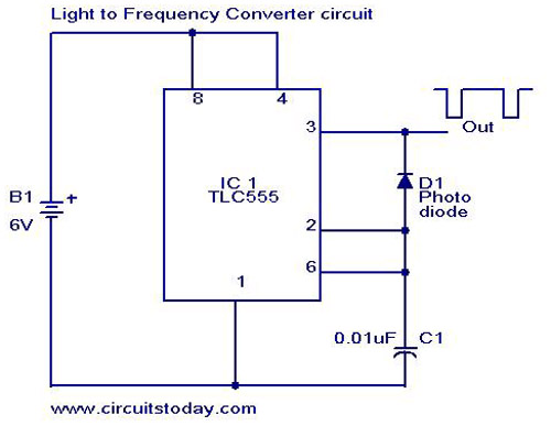 Light to Frequency converterCircuits Today