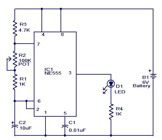 Electronics mini project with circuit diagram