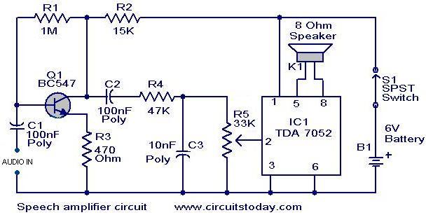 Speech amplifier circuit.