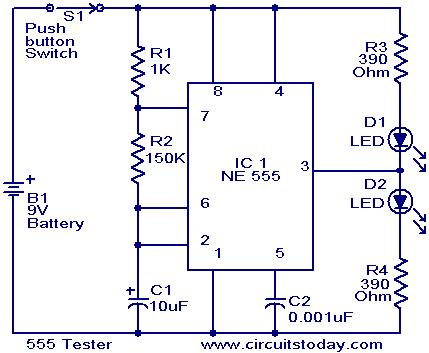 555 Tester circuit - Electronic Circuits and Diagrams-Electronic ...