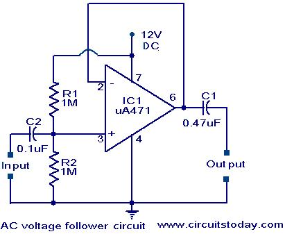 voltage follower circuit electronic circuits and diagrams rh circuitstoday com circuit diagram voltage regulator circuit diagram voltage regulator using zener diode