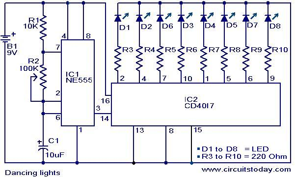 dancing light electronic circuits and diagrams electronic rh circuitstoday com electronic projects circuit diagrams explanation electronic circuits projects diagrams free