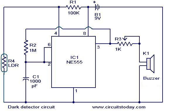 Dark detector circuit - Electronic Circuits and Diagrams-Electronic ...