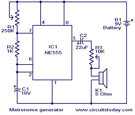 siwire cct diagram of high sound metronome rh siwirediagram blogspot com Multivibrator Circuit Circuit Diagram Metronome