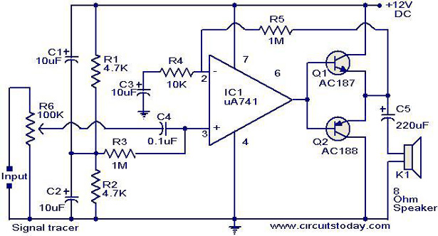 signal tracer circuit electronic circuits and diagrams electronic rh circuitstoday com Simple Electronic Circuits Electronic Circuit Symbols