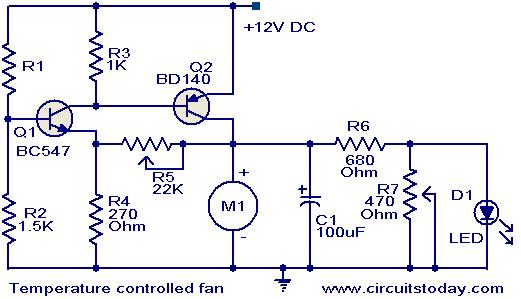 Temperature controlled DC fan - Electronic Circuits and Diagram ...