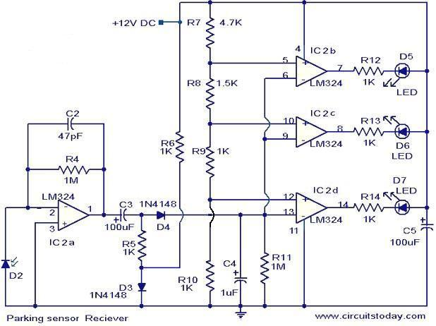 parking sensor circuit electronic circuits and diagram parking sensor receiver circuit jpg