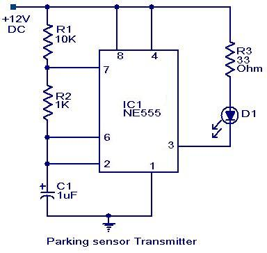 parking sensor circuit electronic circuits and diagrams electronic rh circuitstoday com 5 Wire Oxygen Sensor Diagram Lift Master Safety Sensor Diagram