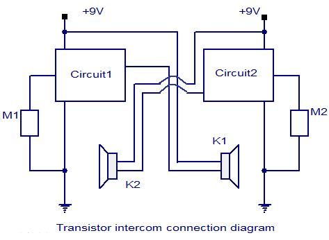 transistor intercom circuit electronic circuits and diagrams rh circuitstoday com Grey Intercom Nutone Intercom Replacement Parts