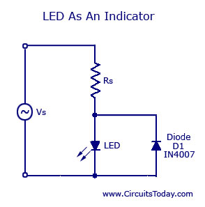 light emitting diode led working circuit symbol characteristics rh circuitstoday com wiring diagram led symbol Farm Tractor Wiring Diagram Diode