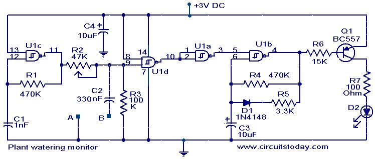 plant moisture level monitor electronic circuits and diagrams rh circuitstoday com battery monitor circuit diagram monitor circuit diagram free download