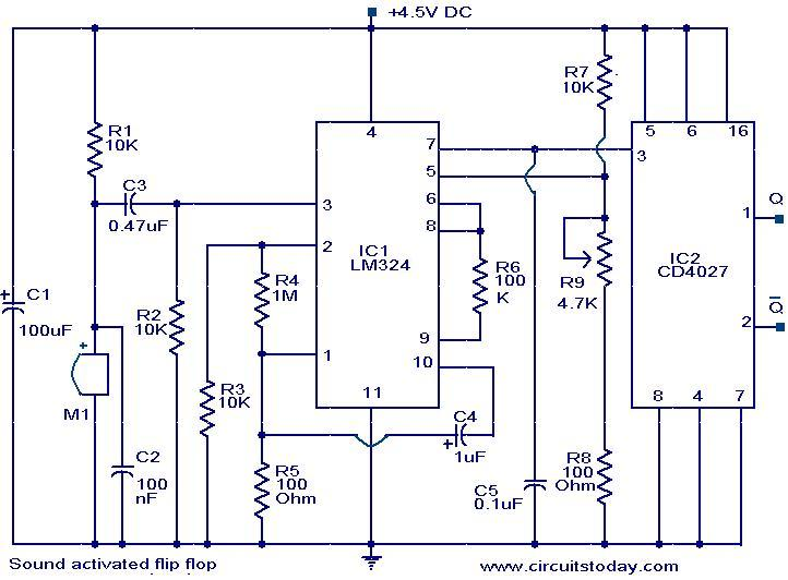 sound-activated-flip-flop-circuit