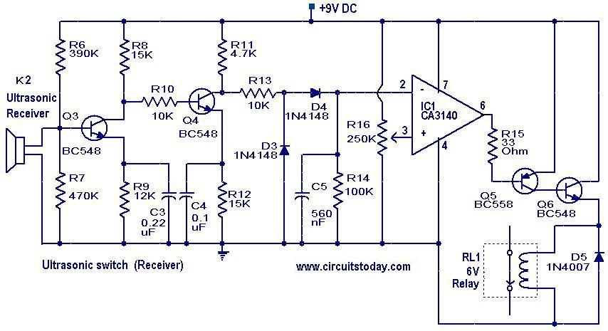 ultrasonic switch receiver ultrasonic switch electronic circuits and diagram electronics 5R55E Transmission Wiring Diagram at alyssarenee.co