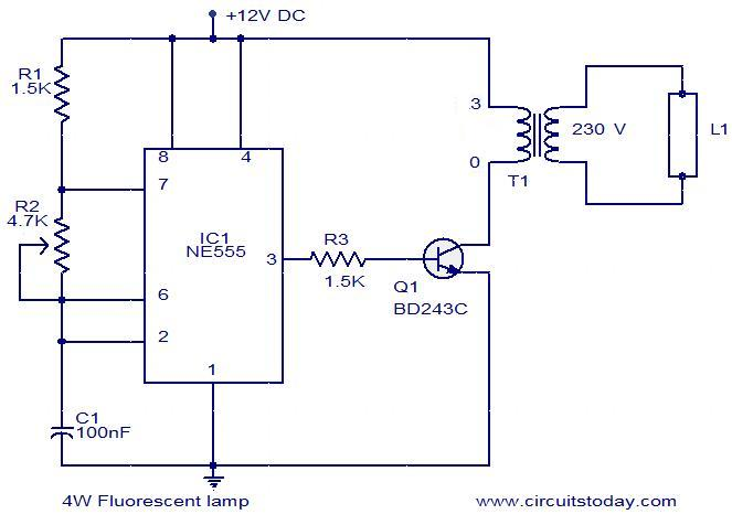 4 w fluorescent lamp circuit 4w fluorescent lamp driver electronic circuits and diagram fluorescent light wiring diagram at crackthecode.co