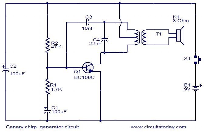 canary-chirping-generator-circuit