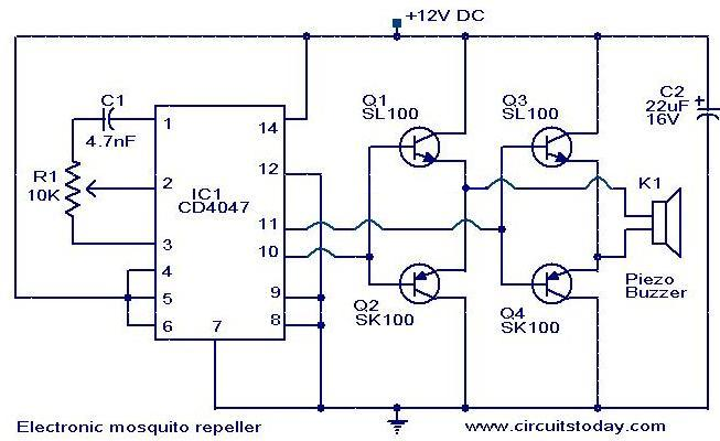 electronic mosquito repeller electronic circuits and diagrams