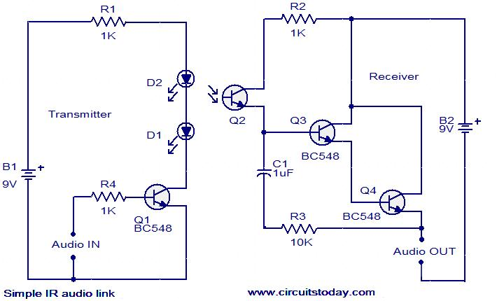 ir audio link circuit simple ir audio link electronic circuits and diagram electronics ir receiver wiring diagram at fashall.co