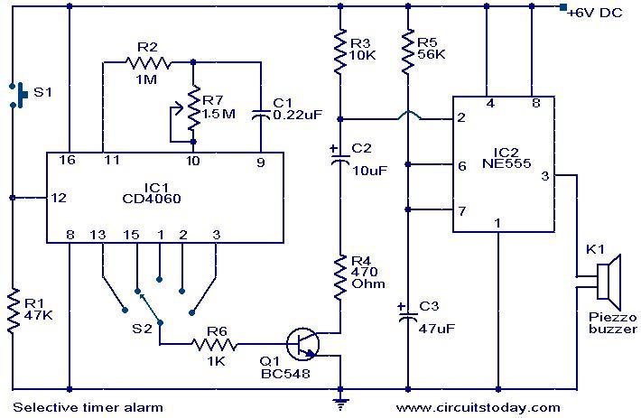 selective-timer-alarm-circuit