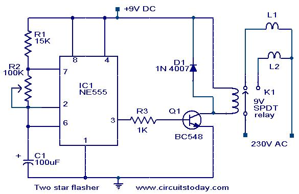 Two Star Flasher Circuit