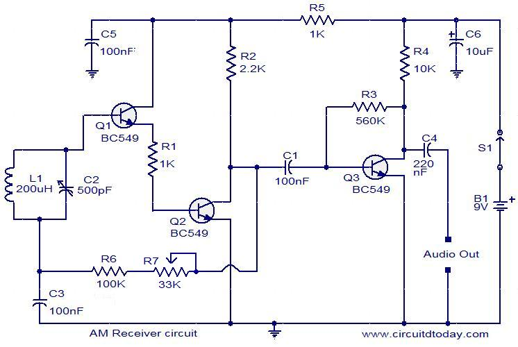 receiver circuit diagram wiring diagram writeam receiver circuit electronic circuits and diagrams electronic am receiver circuit diagram with explanation circuit diagram