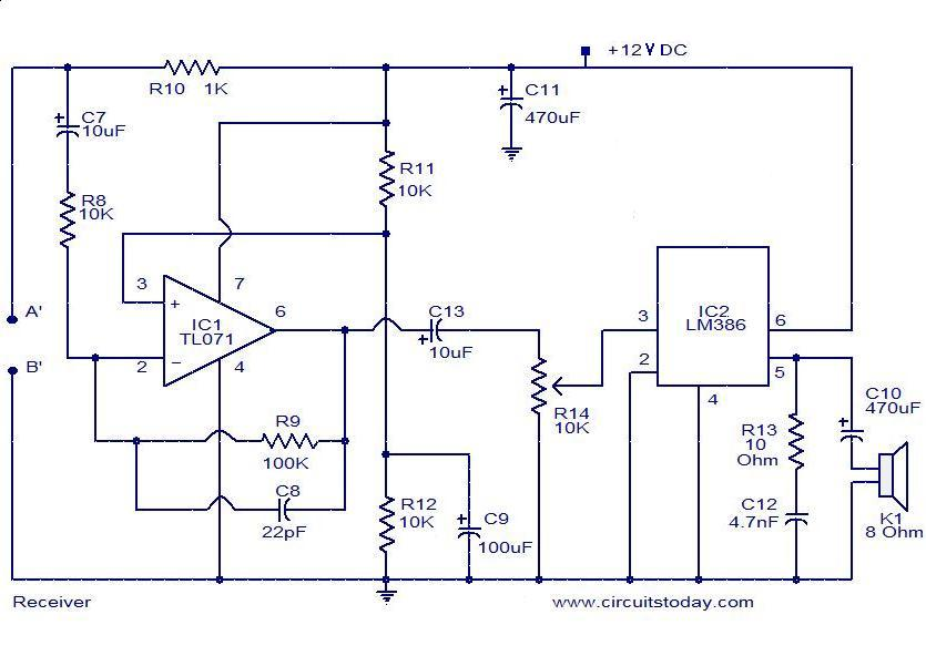 audio-monitoring-system-receiver  Bose Amplifier Wiring Diagram on