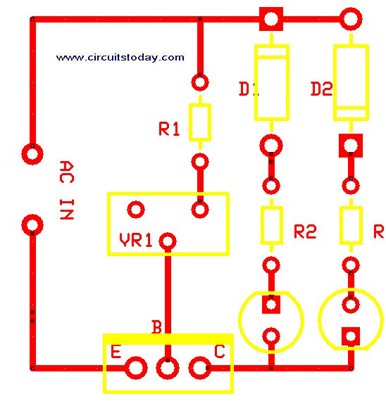 PCB Lay Out - Transistor Tester