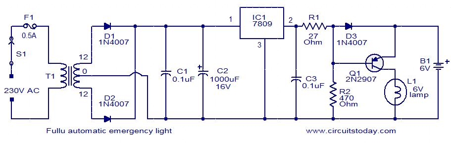 automatic emergency light electronic circuits and diagrams rh circuitstoday com