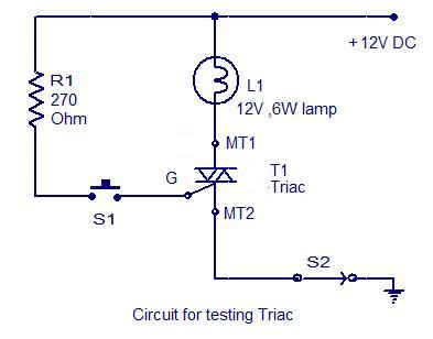 how to test a triac electronic circuits and diagrams electronic rh circuitstoday com triac dimmer circuit diagram triac schematic diagram