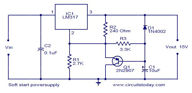 soft-start-power-supply-circuit