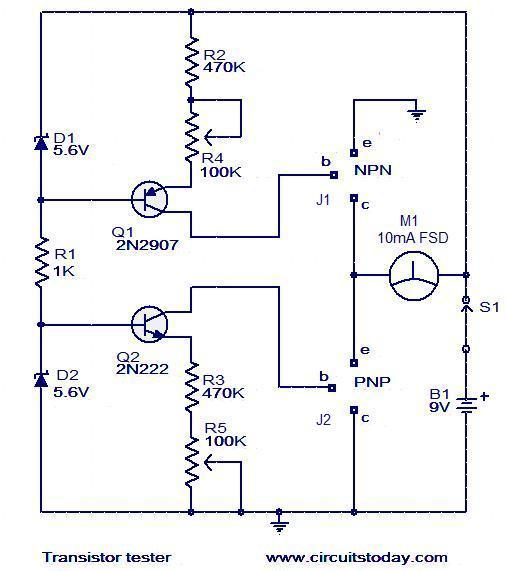 transistor-tester-circuit
